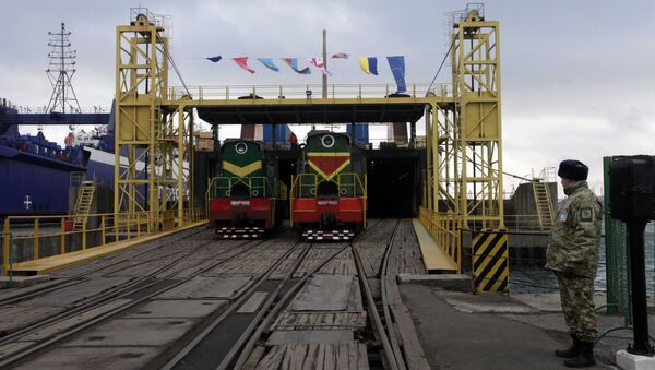A new port facility for the railway link that intends to link China and Europe in the Black Sea port of Illichivsk in Odessa region, Ukraine, Friday, Jan. 15, 2016 - Sputnik International