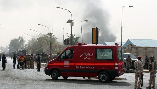 An ambulance arrives at the scene of a bomb attack in Baghdad. File photo - Sputnik International