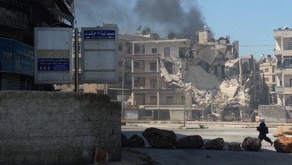 Militants shell a district in Aleppo. File photo - Sputnik International