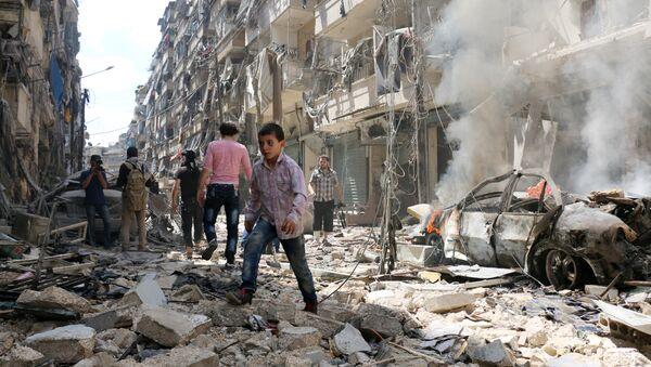 al-Kalasa in the northern Syrian city of Aleppo, on April 28, 2016 - Sputnik International
