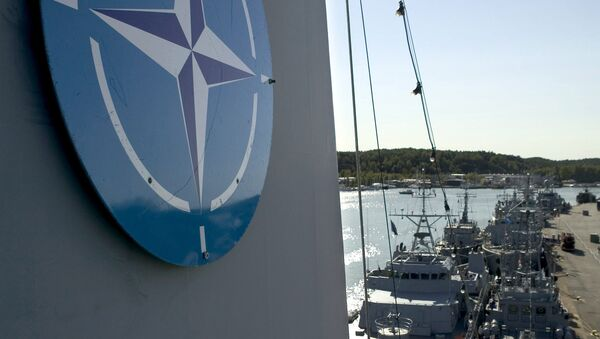 In this file photo dated Aug. 29, 2014, NATO naval mine countermeasure vessels berth in Turku, Finland, during the international Northern Coasts 2014 (NOCO14) military exercise - Sputnik International