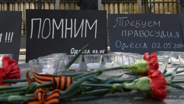 Moscow commemorates those killed in Odessa Trade Unions' House fire - Sputnik International