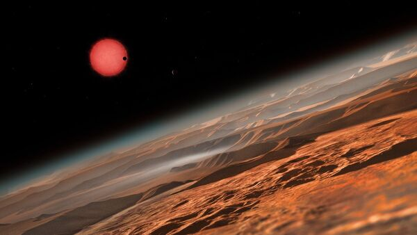 Artist's impression of the ultracool dwarf star TRAPPIST-1 from close to one of its planets - Sputnik International