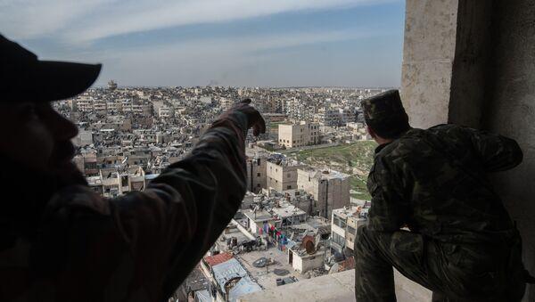 Syrian Arab Army troops in Aleppo - Sputnik International