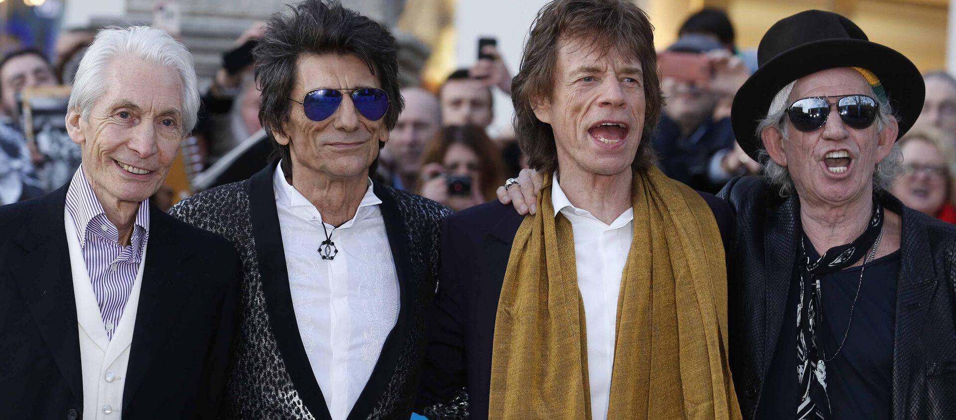 Members of the Rolling Stones (L-R) Charlie Watts, Ronnie Wood, Mick Jagger and Keith Richards. - Sputnik International, 1920, 28.06.2020