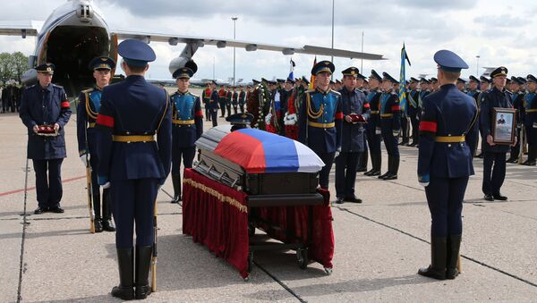 Body of serviceman Alexander Prokhorenko killed in Syria, to be flown to Orenburg - Sputnik International