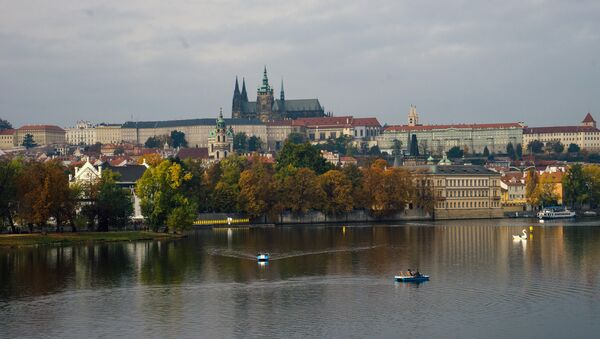A view of the old city from the Kampa Island in Prague. - Sputnik International