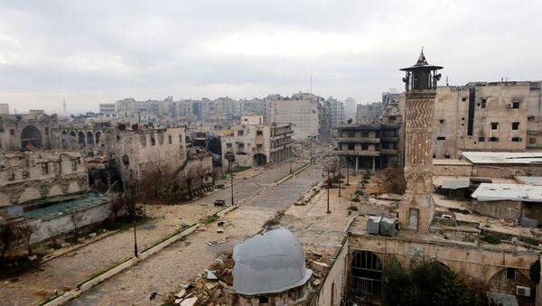 A general view shows a frontline in Old Aleppo - Sputnik International