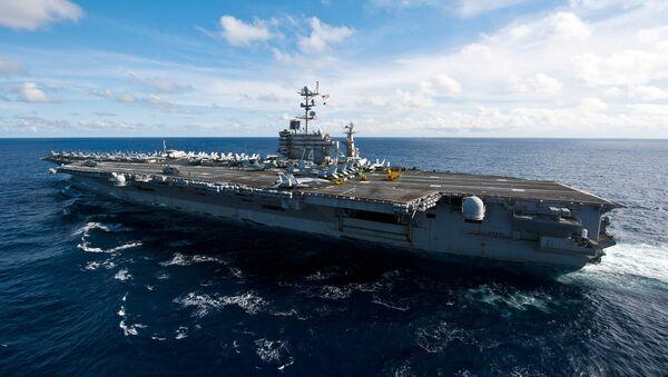 The Nimitz-class aircraft carrier USS John C. Stennis - Sputnik International