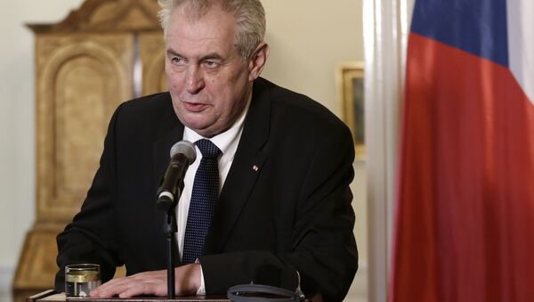 Czech Republic's President Milos Zeman (File) - Sputnik International