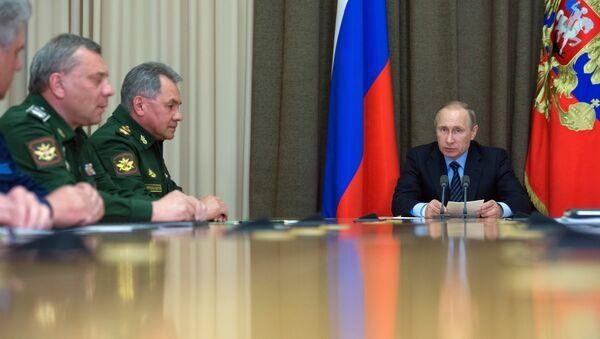 President Vladimir Putin during a meeting - Sputnik International