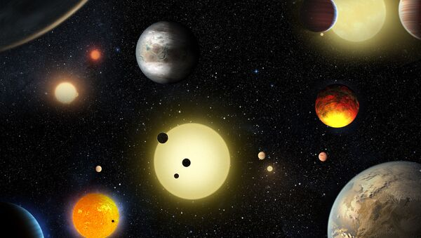This artist's concept depicts select planetary discoveries made to date by NASA's Kepler space telescope. - Sputnik International