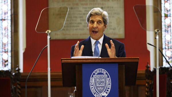 U.S. Secretary of State John Kerry speaks at the Oxford Union in Oxford, Britain May 11, 2016 - Sputnik International