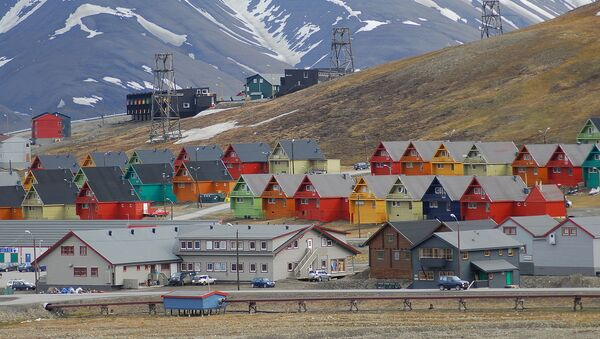 Rows of multicoloured homes in the town of Longyearbyen, Svalbard, Norway. - Sputnik International