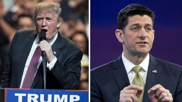 US Republican presidential candidate Donald Trump (left) and Speaker of the House Paul Ryan - Sputnik International