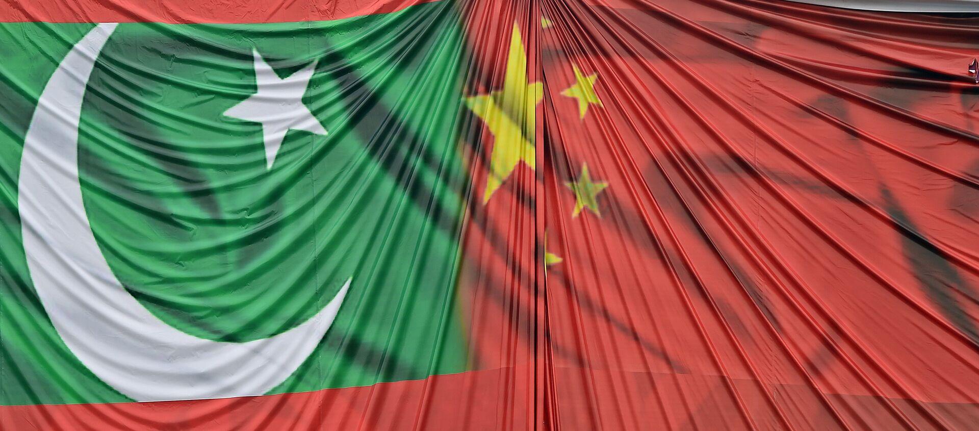 Flags of Pakistan and China - Sputnik International, 1920, 27.07.2021