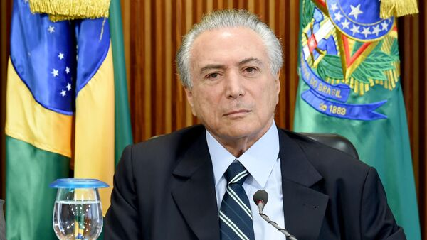 Brazilian acting President Michel Temer is seen during the first ministers meeting at the Planalto Palace in Brasilia - Sputnik International