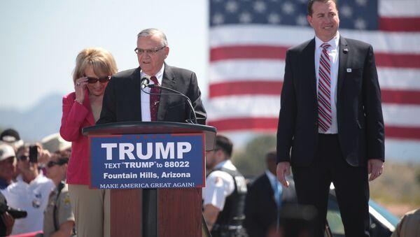 Arizona Sheriff Joe Arpaio speaking at a Donald Trump rally - Sputnik International