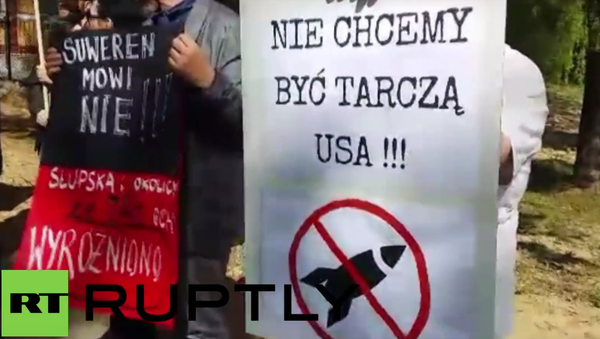 Poland: Protesters rally against construction of US missile defence complex - Sputnik International