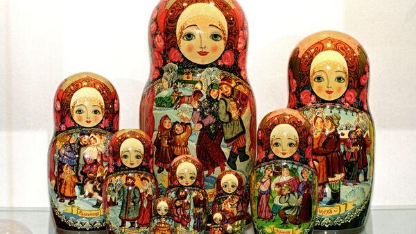 Russian matryoshkas from the meseum Matryoshka at the Folk Craftsmanship Fund of the Russian Federation. (File) - Sputnik International