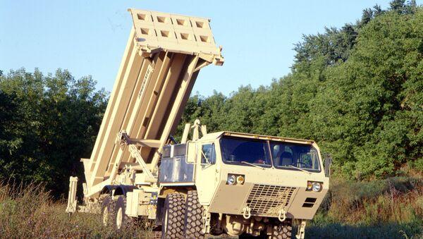 The US Army's Terminal High Altitude Area Defense (THAAD) interceptor, coming soon to South Korea. - Sputnik International