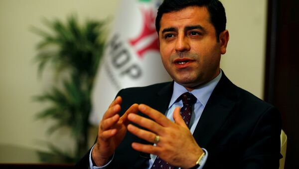 The leader of Turkey's pro-Kurdish opposition Peoples' Democratic Party (HDP) Selahattin Demirtas (File) - Sputnik International