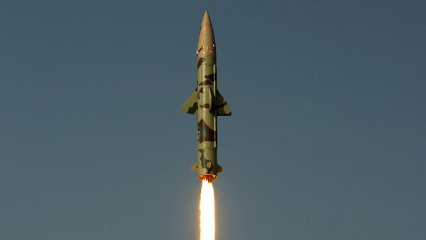 Surface-to-surface missile Prithvi II takes off from Chandipur in Orissa state, India (File) - Sputnik International
