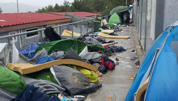 Refugee camp in Samos, Greece - Sputnik International
