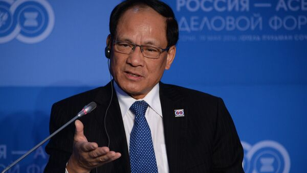 ASEAN Secretary-General Le Luong Minh at the plenary session, Russia–ASEAN Partnership in the New Integration Architecture of the Asia-Pacific Region: Opportunities for Businesses, held as part of the ASEAN-Russia Business Forum at the Pullman Sochi Centre Hotel - Sputnik International