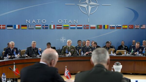 NATO's Chairman of the Military Committee, Czech Gen. Petr Pavel, rear center left, opens a meeting of NATO's Military Committee at NATO headquarters in Brussels (File) - Sputnik International
