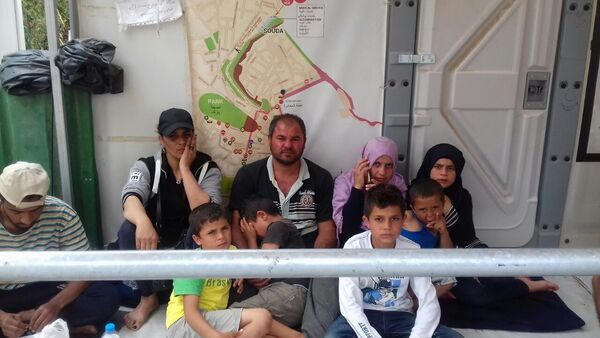 On 17th May, 28 Syrian & Palestinian refugees (adults) went on hunger strike in Chios, Greece. They demand asylum information and interviews for their applications. - Sputnik International
