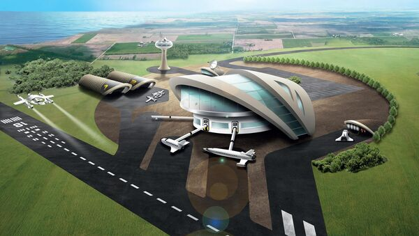 Artist impression of Newquay potential Spaceport - Sputnik International