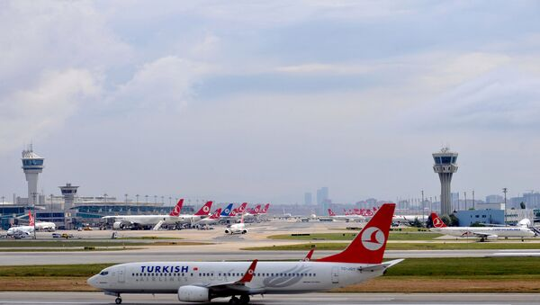 Turkish Airlines plane at the Ataturk Airport. (File) - Sputnik International