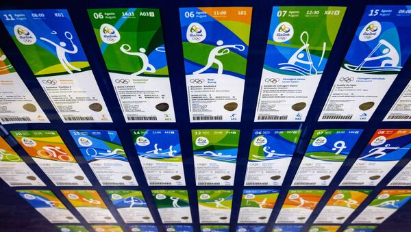 View of tickets for the Rio 2016 Olympic and Paralympic games as their design is revealed in Rio de Janeiro, Brazil, on May 20, 2016 - Sputnik International