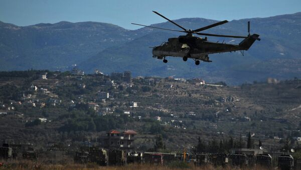 Russian warplanes at Hemeimeem air base in Syria - Sputnik International