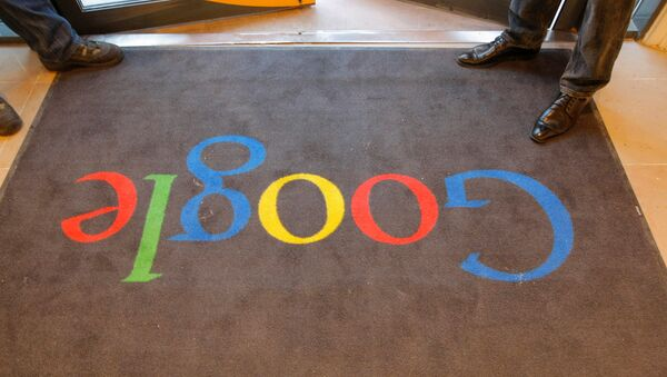 A Google carpet is seen at the entrance of the new headquarters of Google France before its official inauguration in Paris, France. (File) - Sputnik International