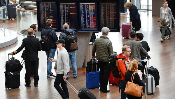 No flights could take off from Arlanda airport due to a computer problem which led to the closure of Stockholm airspace (File) - Sputnik International