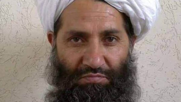 Taliban new leader Mullah Haibatullah Akhundzada is seen in an undated photograph, posted on a Taliban twitter feed on May 25, 2016, and identified separately by several Taliban officials, who declined be named - Sputnik International