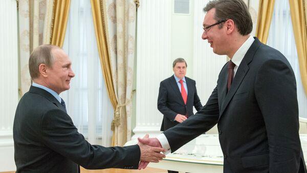 Russian President Vladimir Putin meets with Serbian Prime Minister Aleksandar Vucic - Sputnik International