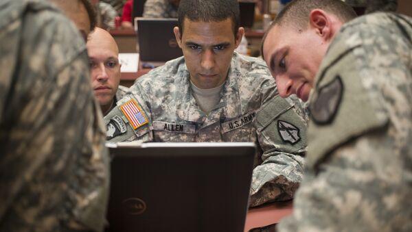 US Army National Guard Trains at Cyber City - Sputnik International