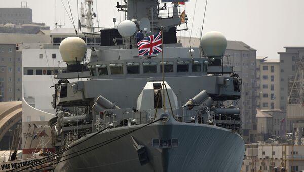 Britain's Royal Navy warship HMS Westminster sits docked in Gibraltar, Monday, Aug. 19, 2013 - Sputnik International