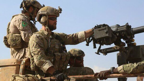 US Troops Wearing YPG Kurdish Patches in Northern Syria - Sputnik International
