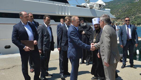 Russian President Putin Visits Mount Athos - Sputnik International