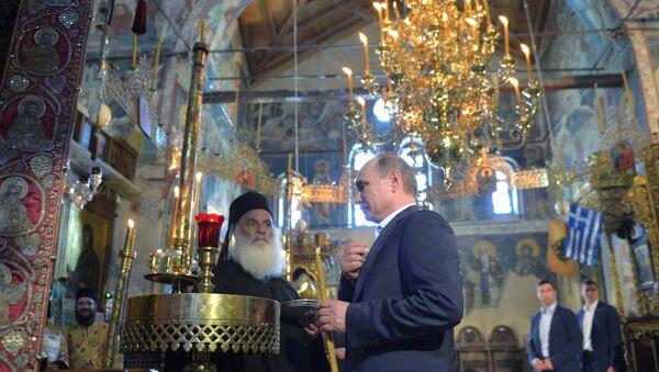 May 28, 2016. Russian President Vladimir Putin visits Mount Athos - Sputnik International