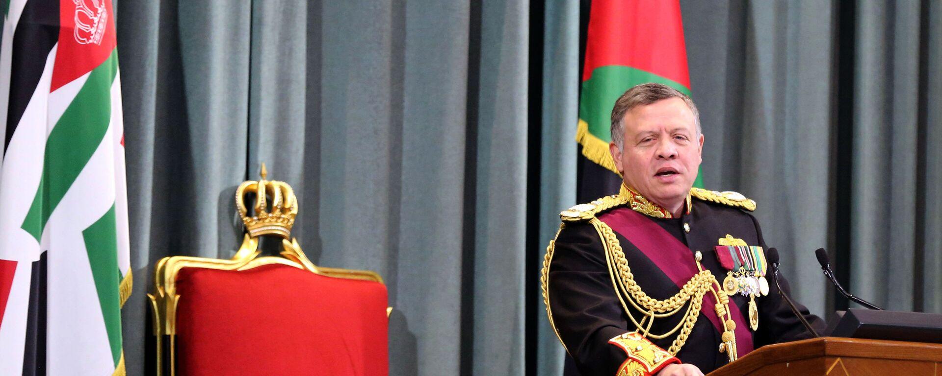 Jordanian King Abdullah II delivers a speech at the parliament (file) - Sputnik International, 1920, 04.10.2021