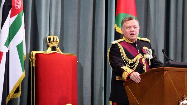 Jordanian King Abdullah II delivers a speech at the parliament (file) - Sputnik International