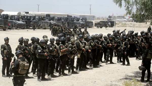 Iraq's elite counter-terrorism forces gather ahead of an operation to re-take the Daesh-held City of Fallujah, outside Fallujah, Iraq, Sunday, May 29, 2016. - Sputnik International