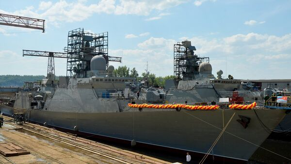The official christening ceremony of the Project 1166 Gepard 3.9/Dinh Tien Hoang-class light frigate, produced for the Vietnamese Navy, takes place in the Russian Republic of Tatarstan. - Sputnik International