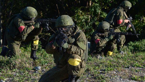 Drill of  anti-terrorist forces - Sputnik International