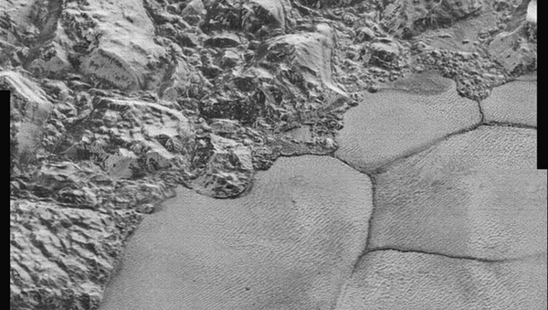 One section of the new Pluto images. - Sputnik International